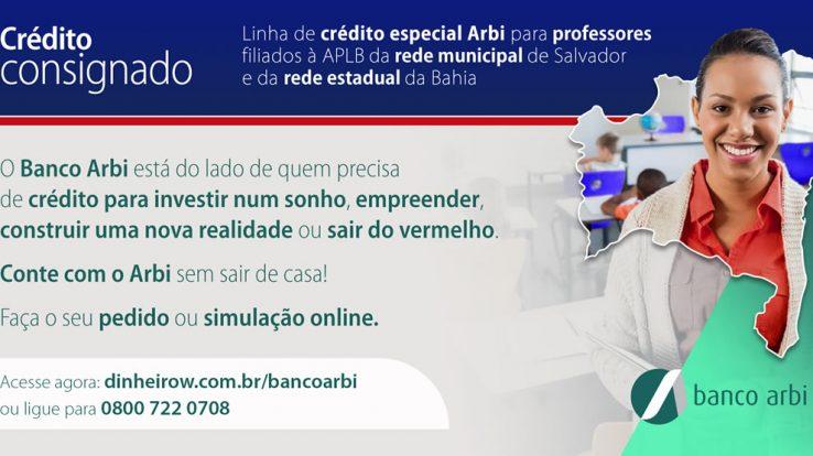 BANCO ARBI TEM LINHA DE CRÉDITO ESPECIAL PARA PROFESSORES DA BAHIA
