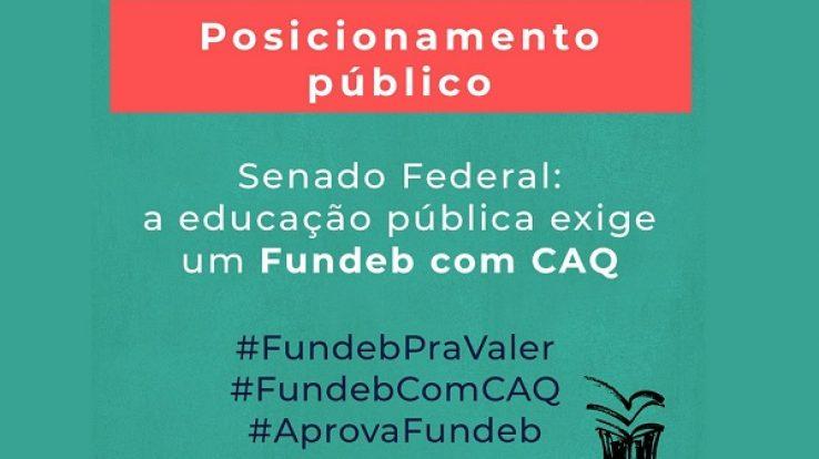 Senado Federal: a educação pública exige um Fundeb com CAQ