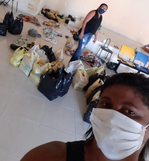 Em Iaçu, professores e coordenadores fazem campanha contra a fome na Pandemia
