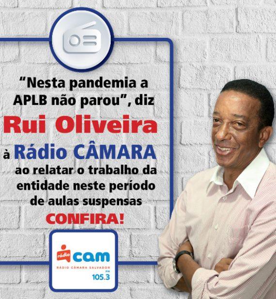 Confira a entrevista de Rui Oliveira para a Rádio Câmara Salvador