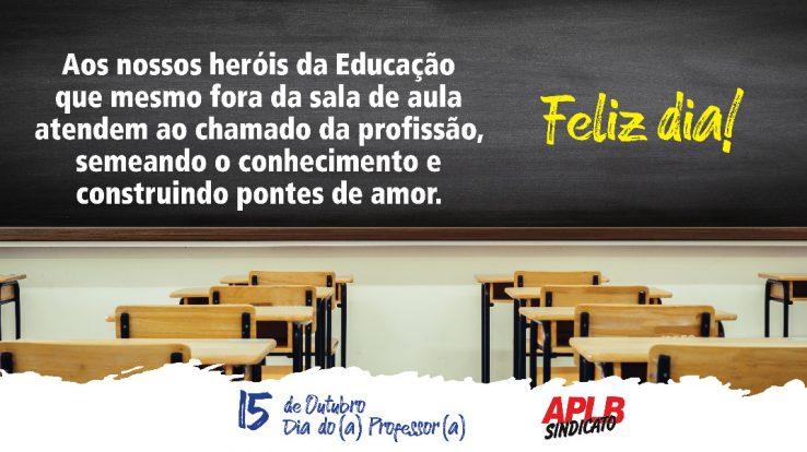 Nossa homenagem ao 15 de Outubro – Dia do (a) Professor (a)!  – Confira o artigo da diretora Elza Melo