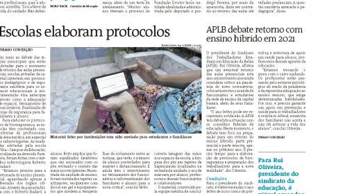 APLB reafirma sua defesa pela vida. Confira entrevista ao Jornal A Tarde deste domingo (18/10)
