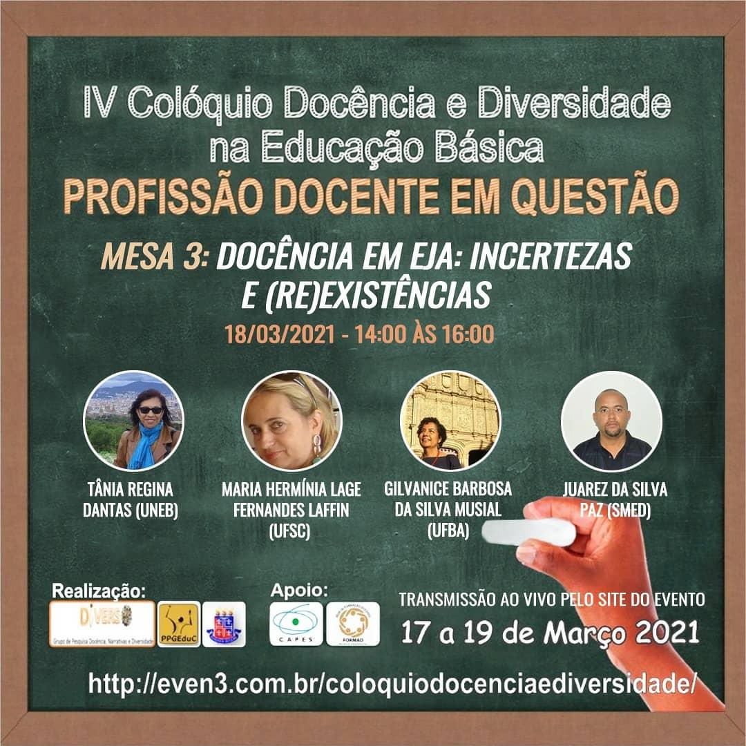 Resultado de imagem para IV Colóquio Docência e Diversidade da Educação Básica