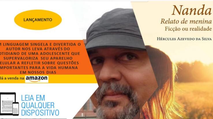 """Professor Hércules Azevedo lança livro """"Nanda Relato de Menina Ficção ou Realidade"""". Live com o autor na sexta (4/12), às 20h pelo YouTube"""