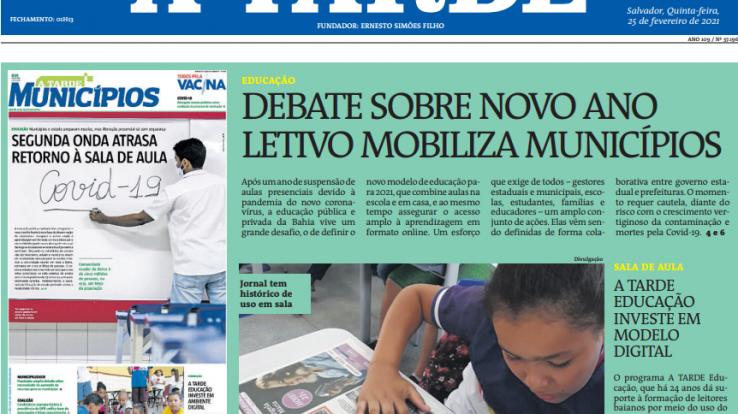 Jornal A Tarde – Professores e donos de escola estão em lados opostos