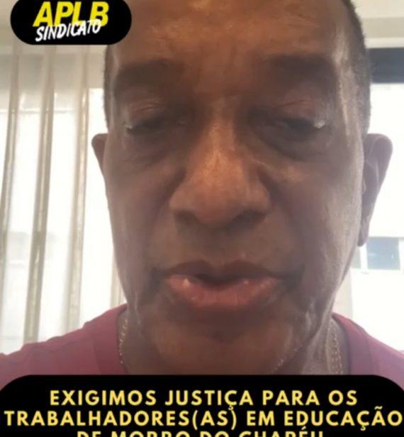 MORRO DO CHAPÉU: APLB-SINDICATO PROTESTA CONTRA CORTE NOS SALÁRIOS DOS PROFESSORES
