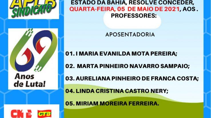 CONFIRA A CONCESSÃO DE NOVAS APOSENTADORIAS