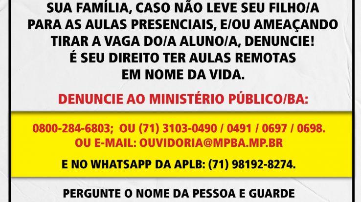 AULAS REMOTAS – UM DIREITO EM DEFESA DA VIDA!