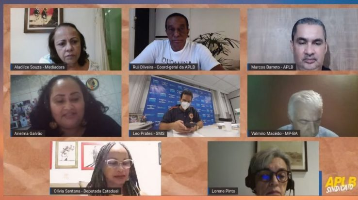 APLB participa de debate com secretário de Saúde Léo Prates e MP-BA sobre retorno às aulas presenciais