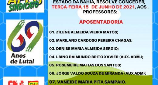 Confira as concessões de aposentadoria desta terça-feira (15/06)