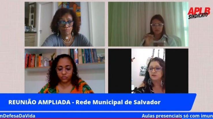 TRABALHADORES EM EDUCAÇÃO DO MUNICÍPIO DE SALVADOR DISCUTEM RETOMADA DAS AULAS PRESENCIAIS; 85,4% FORAM FAVORÁVEIS ÀS PROPOSTAS APRESENTADAS