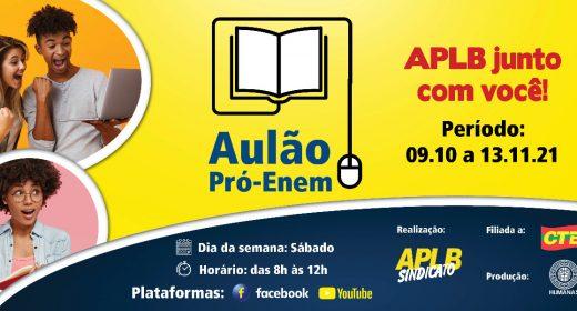 AULÃO PRÓ-ENEM – APLB JUNTO COM VOCÊ!