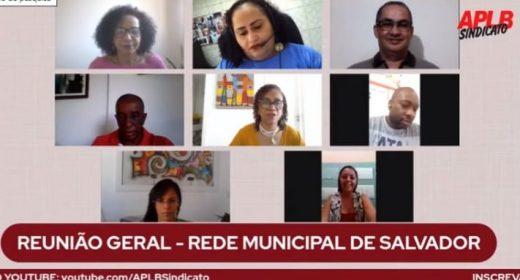 Em reunião com a APLB, rede municipal de Salvador define 28 de outubro como Dia de Luta, com ato em frente à SMED